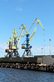 Cargo Container Crane. In Pier royalty free stock images