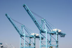 Cargo container cranes Stock Photos