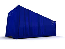 Cargo container dark blue Royalty Free Stock Photo