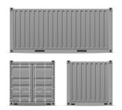 cargo container for the delivery and transportation of merchandise and goods stock vector illustration royalty free illustration