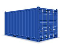 Cargo container for the delivery and transportation of merchandi Royalty Free Stock Photo