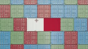 Container with flag of Malta. Maltese goods related conceptual 3D rendering. Cargo container with flag. goods related conceptual 3D royalty free illustration