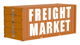 Cargo container, freight market concept Royalty Free Stock Image