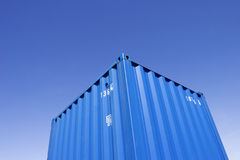 Cargo container in front of blue sky Royalty Free Stock Photo
