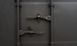 Cargo Container Front. Front view Container. Open Container. Color gray Cargo Container Stock Photography