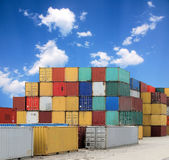 Cargo Container Harbor Stock Photo