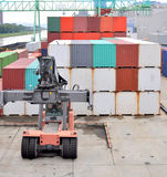 Cargo container harbor Royalty Free Stock Images