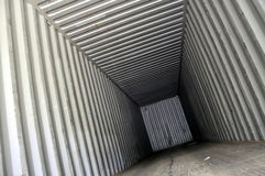 Cargo container from the inside Royalty Free Stock Photography