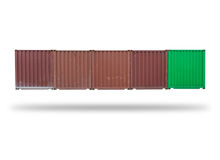 Cargo container isolated Stock Photos
