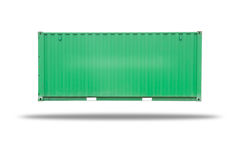 Cargo container isolated. On over white background Stock Photography
