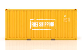 Cargo container. Isolated on white background Royalty Free Stock Image
