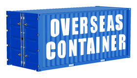 Cargo container, overseas concept. Isolated on white background Royalty Free Stock Image