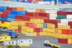 Cargo container in port Stock Photos