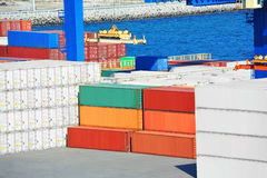 Cargo container in port Royalty Free Stock Photo
