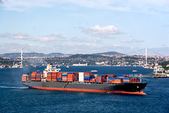Cargo container ship Stock Photography
