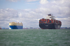 Cargo and Container Ship Royalty Free Stock Photo