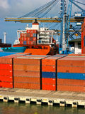 Cargo Container Ship. In the port Royalty Free Stock Photo