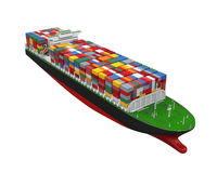 Cargo Container Ship Isolated Stock Photos