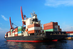 Cargo Container Ship loading royalty free stock photo