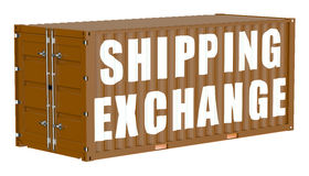 Cargo container, shipping exchange concept Stock Photos