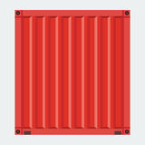 Cargo container for shipping with flat solid color design Stock Image