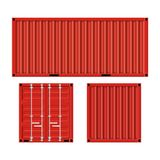 Cargo container for shipping. And transportation work isolated on white background. vector illustration in flat design Royalty Free Stock Images
