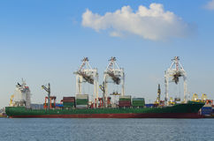 Cargo Container Ships Stock Photography