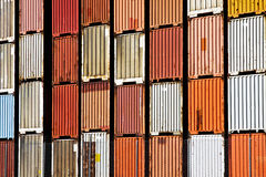 Cargo Container Stacks Royalty Free Stock Photography