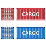 Cargo container. Stock illustration. Royalty Free Stock Photography
