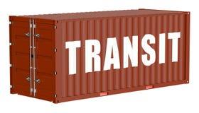 Cargo container, transit concept Stock Image