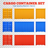 Cargo Container Transparent Set Royalty Free Stock Photos
