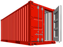 Cargo container for transportation work isolated. Stock Photo