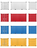 Cargo container vector illustration Royalty Free Stock Photos