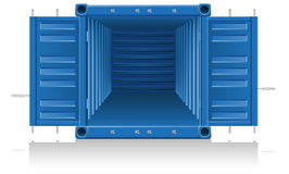 Cargo container vector illustration Stock Photos