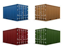 Cargo container vector illustration Royalty Free Stock Image