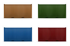 Cargo container vector illustration Stock Photo