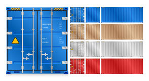 Cargo container vector Stock Images