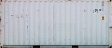 Cargo container. White metal Cargo container, close up Stock Images