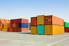 Cargo containers Royalty Free Stock Photography