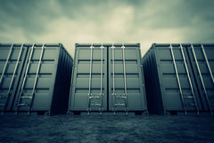 Cargo containers. Royalty Free Stock Photo