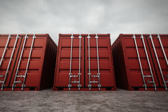 Cargo containers. Stock Photos