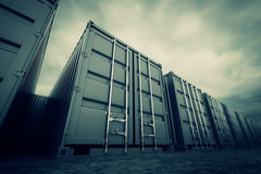Cargo containers. Stock Images