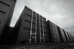 Cargo containers. Royalty Free Stock Photos