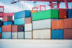 Cargo containers closeup Royalty Free Stock Photography
