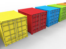 Cargo containers color diversity concept Royalty Free Stock Images