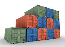 Cargo containers concept illustration Stock Photos