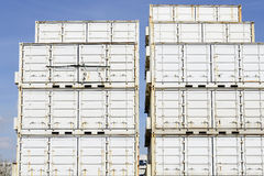 Cargo containers on dockside Royalty Free Stock Photo