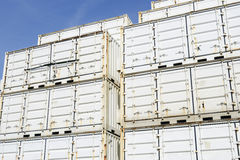 Cargo containers on dockside Royalty Free Stock Images