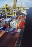 Cargo Containers at Freight Terminal Royalty Free Stock Photo