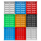 Cargo containers. Great for topics like shipping, freight transportation, shipping Royalty Free Stock Photos